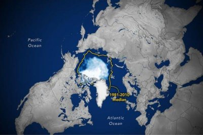 Arctic sea ice hits lowest point of the year as planet warms