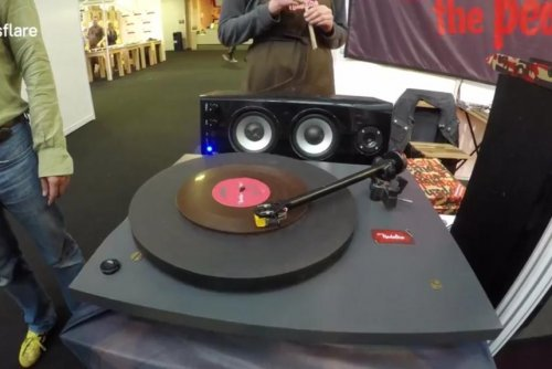 Sweet sounds: Chocolate record plays real music