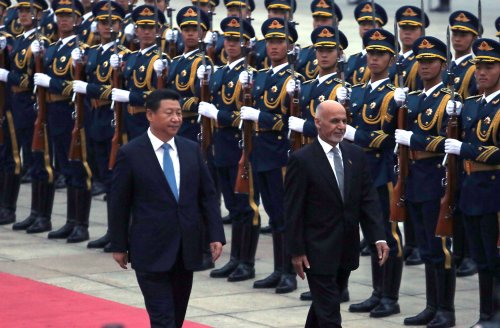 Afghanistan's Ghani in trade talks with China's Xi