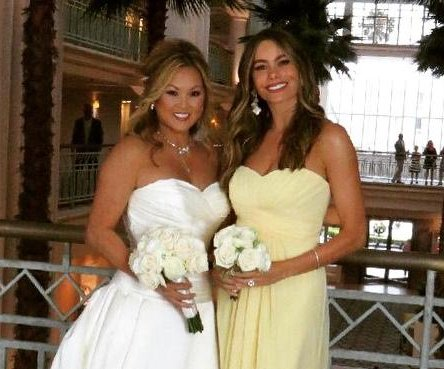 Sofia Vergara stuns as bridesmaid in friend's wedding