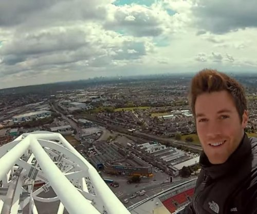 Daredevil films climb on London's Wembley Stadium arch