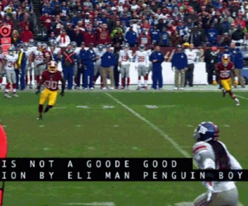 "New York Giants' Eli Manning called ""Penguin Boy"" by closed-captioning"