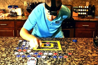Man stacks 48 poker chips in 30 seconds for Guinness record