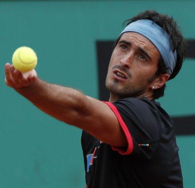 Andujar advances in Romania on upset win