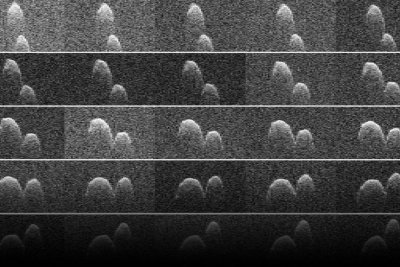 NASA shares 'space peanut' flyby video