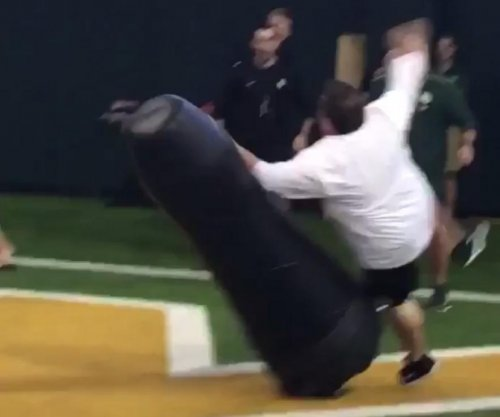 Baylor Football: Admin wins race before getting obliterated by tackle dummy tackle