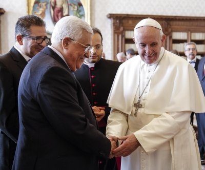 Pope Francis, Palestinian leader Mahmoud Abbas meet, seek two-state solution