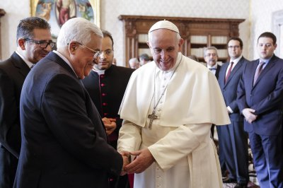 Pope, Palestinian leader meet, seek two-state solution