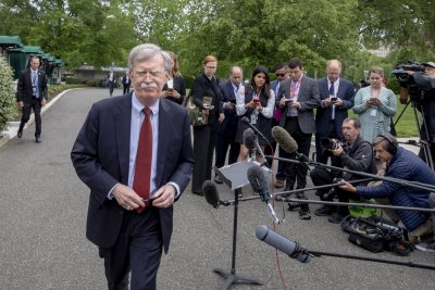 In Middle East for security talks, John Bolton blames Iran for tanker attacks