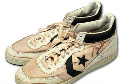d3a77b4c38996c Michael Jordan Converse shoes sell for record  190K at auction - UPI.com