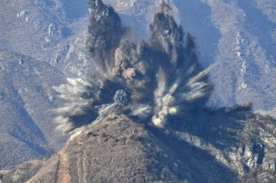North Korea demolished ten guard posts with explosives, Seoul says