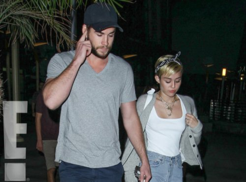 Miley Cyrus and Liam Hemsworth enjoy LA movie night