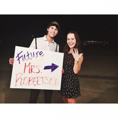 John Luke Robertson engaged to Mary Kate McEacharn