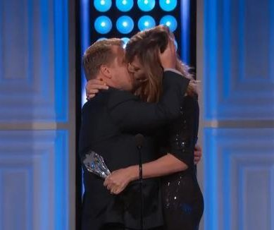 Watch Allison Janney kiss James Corden at Critics' Choice TV Awards