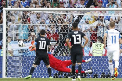 World Cup: Iceland goalie stops Lionel Messi penalty kick