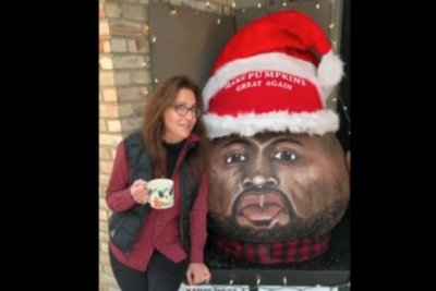 Artist creates giant Kanye West pumpkin for Christmas