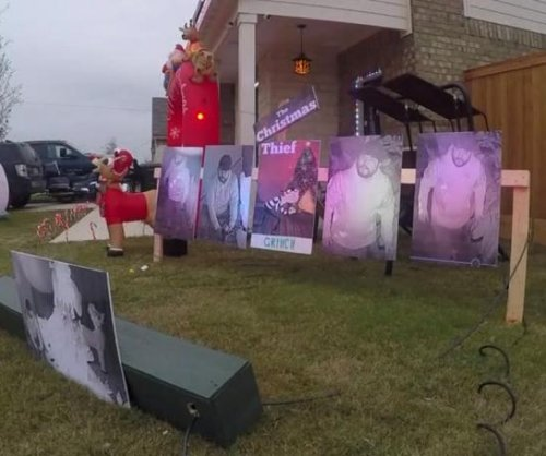 Stolen Christmas display replaced with security camera images