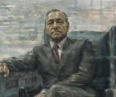 'House of Cards' star Kevin Spacey presents presidential portrait in-character