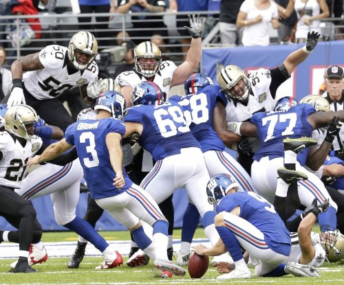 Josh Brown's late kick helps New York Giants edge New Orleans Saints