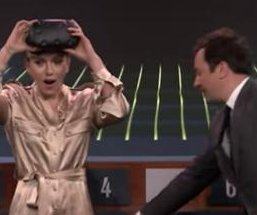 Scarlett Johansson plays Virtual Reality Pictionary on 'Tonight Show'