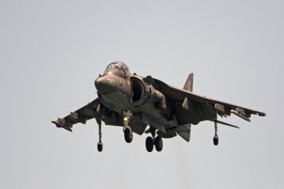 Marine Corps Harrier pilot safely ejects as jet crashes in North Carolina
