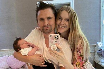 Muse's Matthew Bellamy celebrates baby girl's birth