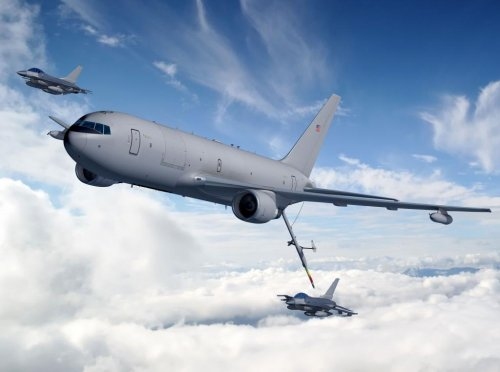 Boeing, USAF fly KC-46 prototype