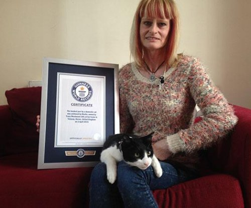 British cat's record-breaking purr as loud as an air conditioner