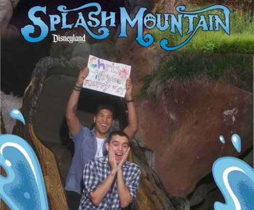 Man secretly proposes to boyfriend on Disneyland ride