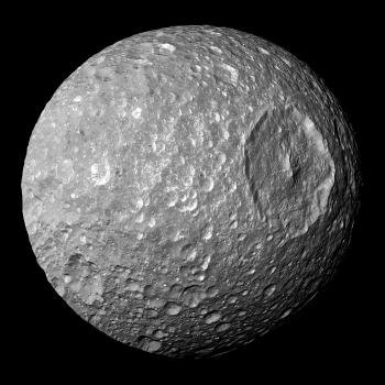 Saturn's moon Mimas may be hiding an ocean under its icy surface
