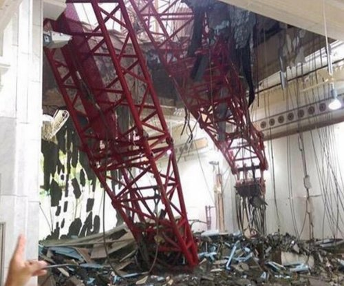 Crane crashes into Mecca's Grand Mosque, dozens of worshippers dead