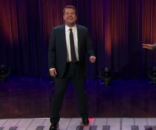 James Corden plays giant piano, performs Bieber's 'Sorry' with Sean Hayes