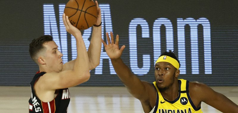 Duncan Robinson Pushes Heat To 2 0 Lead On Pacers With 3 Point Barrage Upi Com