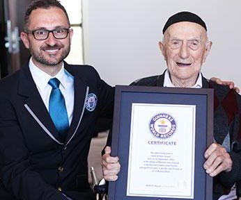 Guinness certifies world's oldest man, 112, in Israel