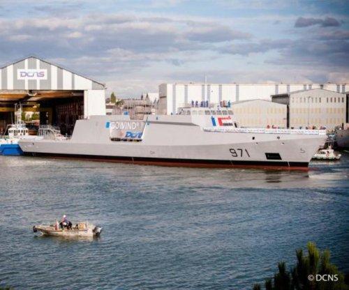 New Egyptian Navy corvette takes to water
