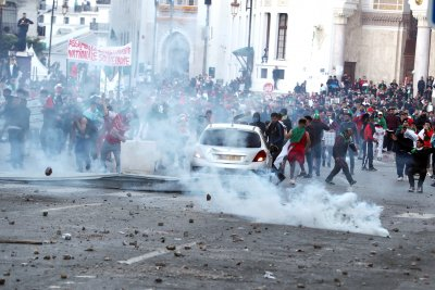 Algerian protesters call on interim president to step down, too