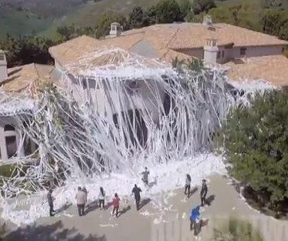 Howie Mandel's home targeted in epic toilet paper prank