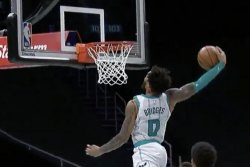 Hornets' LaMelo Ball, Miles Bridges team up for behind-the-back, windmill dunk
