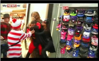 Video: Chewbacca breaks up superhero fight
