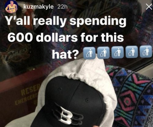 Kyle Kuzma: Los Angeles Lakers PF disses Lonzo Ball's '$600' hat