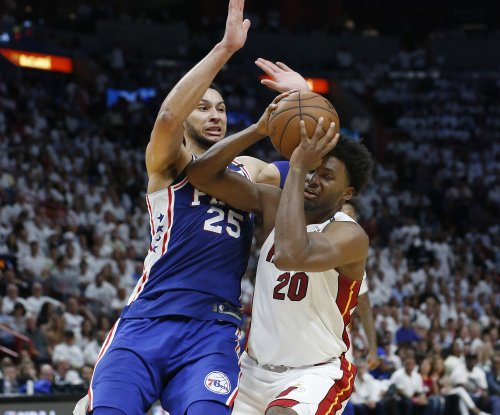 Justise Winslow: Heat forward fined for stepping on Joel Embiid's mask