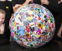 Vermont company assembles world's largest ball of stickers