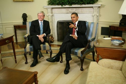Obama, Rudd stress economic recovery