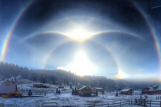 Photographer Captures Rare Ice Halo Phenomena In New