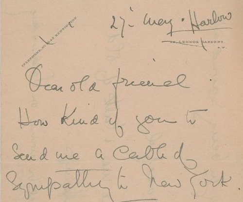 Letter from Titanic survivor sells for nearly $12K