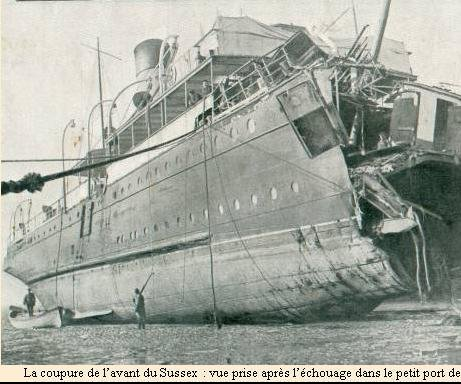 SS Sussex: 50 reported lost; United Press man aboard tells story