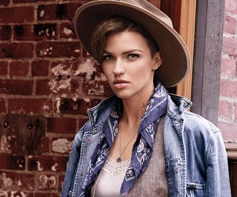 Ruby Rose models for Ralph Lauren Denim & Supply for spring campaign