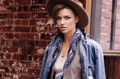 Ruby Rose models for Ralph Lauren Denim & Supply for spring campaign