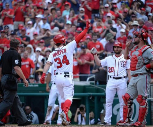 Bryce Harper caps big day with walk-off 3-run blast to lift Washington Nationals over Philadelphia Phillies