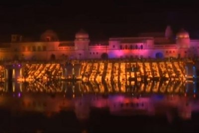 Watch:-301,152-Diwali-lamps-set-Guinness-World-Record